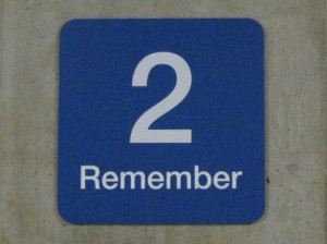 2 Remember... photo by Tui Cameron