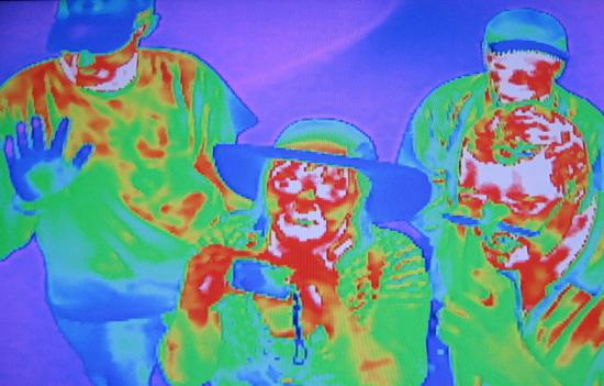 Infrared photo of our gang at the State Fair of Texas