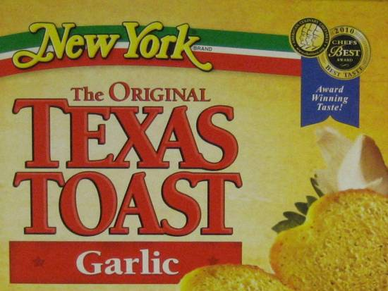 Texas Toast hails from New York?