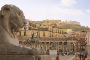 Piazza Plebiscito, in Naples, Italy. Photo by Tui Cameron