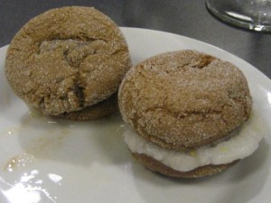 Nonfat gingersnaps with Meyer Lemon Buttermilk Ice Cream. Photo by Tui Cameron