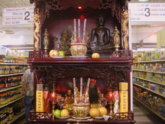 Altar in grocery store