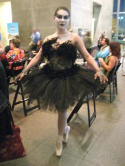 Best costume winner - The Black Swan