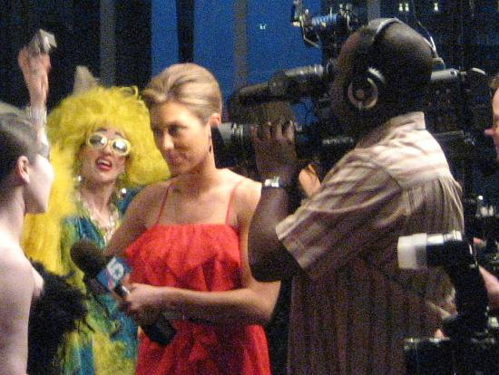 Red carpet interview with Black Swan at the 2011 Oscar Party in Fort Worth, Texas