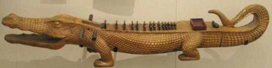 Alligator shaped Burmese zither. (photo by Tui Cameron)