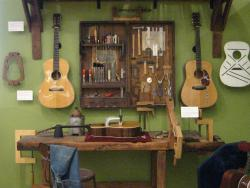 Guitar making display at the MIM. (photo by Tui Cameron)