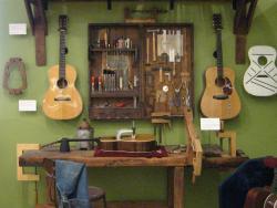 Guitar making display at the MIM. (photo by Tui Cameron)