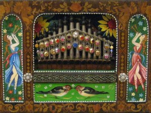 Close up of a Xorgan, a barrel organ from the Urkaine (photo by Tui Cameron)