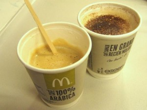 Tasty espresso at a McDonalds in Europe - what a surprise! Photo by Tui Cameron