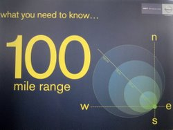 The Nissan Leaf electric car has a 100 mile range - really. (photo by Tui Cameron)