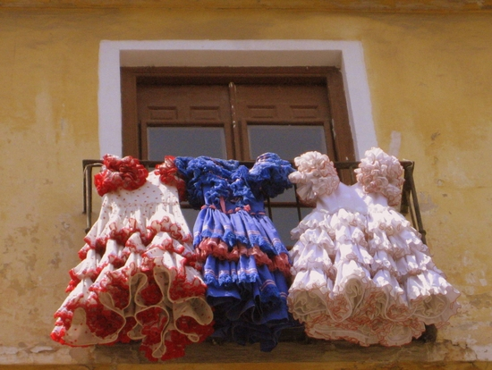 Flamenco dresses in Malaga, Spain (photo by Tui Cameron)