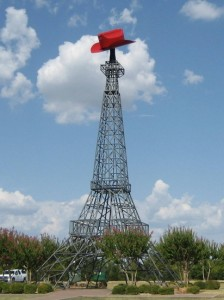 Eiffel Tower replica in Paris, TX (photo by Tui Cameron)
