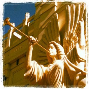 Bass Hall angel in downtown Fort Worth, Texas (photo by Tui Snider)
