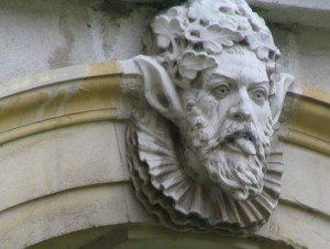 Cheeky face at Hampton Court Palace in London. (photo by Tui Snider)