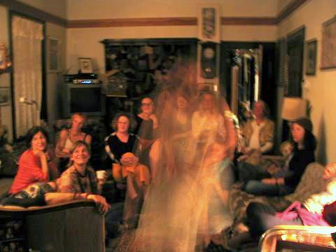 Ghostly photo taken in a Victorian home in Port Townsend, WA. (photo by Tui Snider)