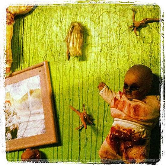 Creepy playroom at Moxley Manor haunted house. (photo by Tui Snider)