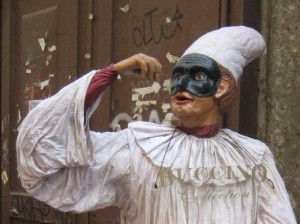Pulcinella in Naples, Italy (photo by Tui Snider)