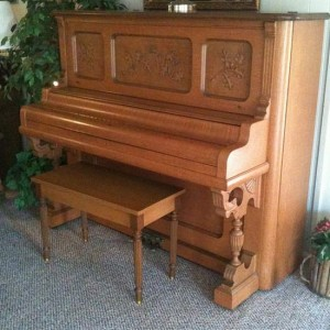 """Our beautiful """"new"""" piano. (photo by Tui Snider)"""