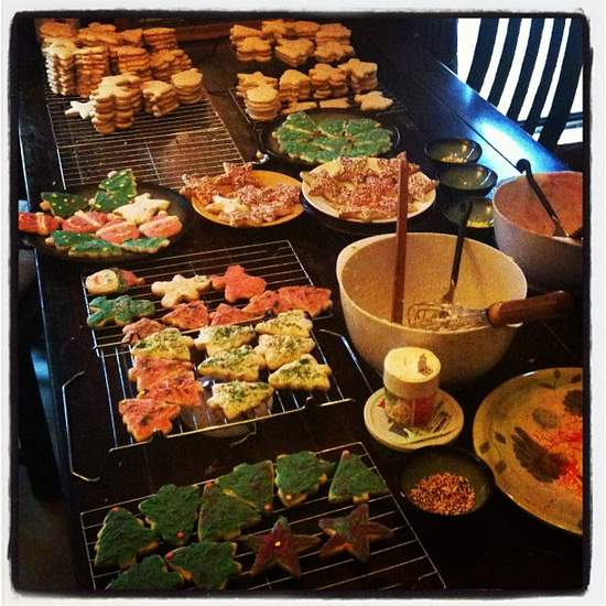 Our cookie assembly line (photo by Tui Snider)