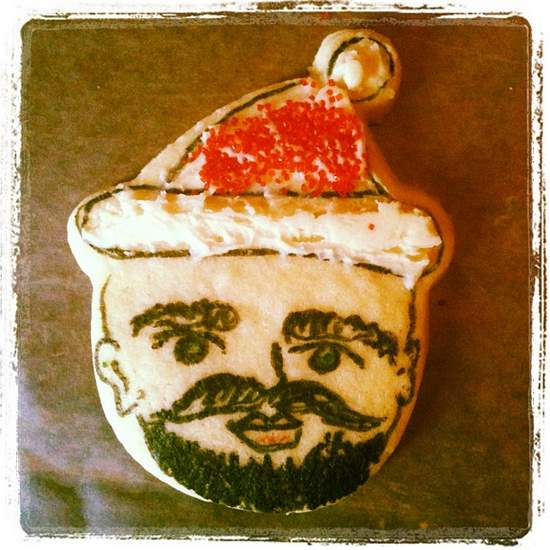 Hipster Christmas elf cookie. (photo by Tui Snider)