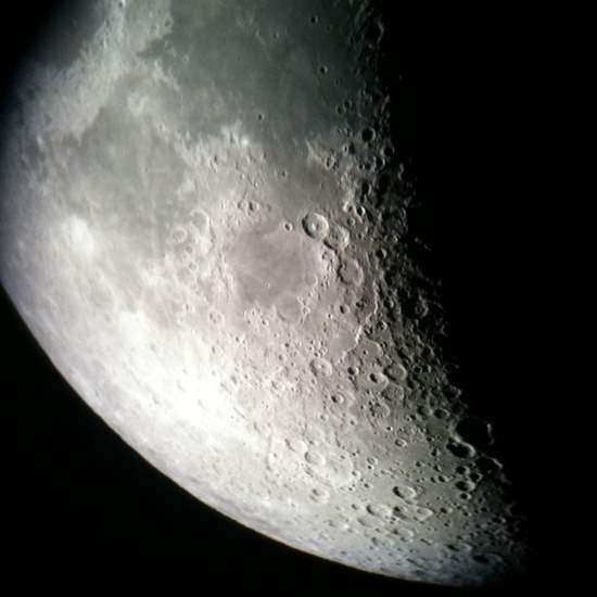 Moon through the iPhone. (photo by Tui Snider)
