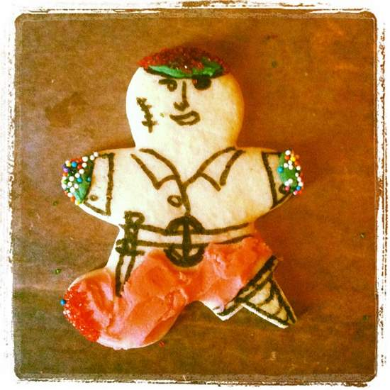 Pirate sugar cookie - Argh! (photo by Tui Snider)