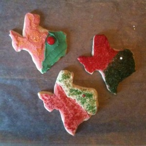 Texas shaped cookies (photo by Tui Snider)