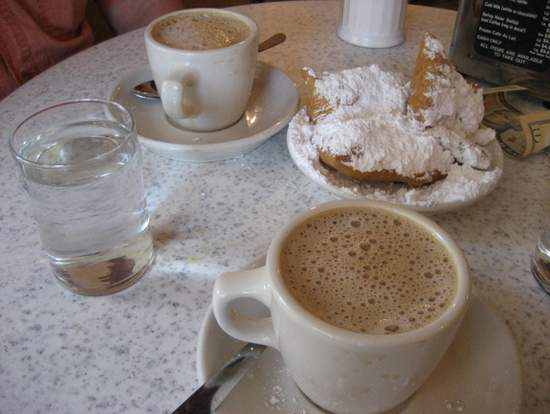 Coffee and beignets at Cafe du Monde. (photo by Tui Snider)