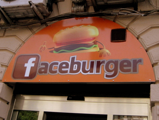 Faceburger in Messina, Sicily (photo by Tui Snider)