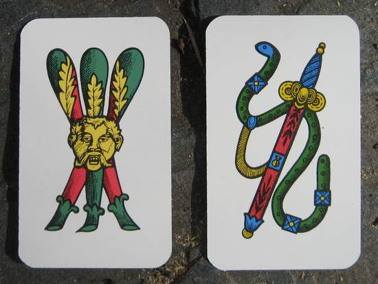 Neapolitan playing cards from Naples, Italy. (photo by Tui Snider)