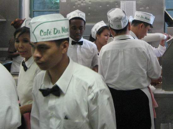 Cafe du Monde kitchen. (photo by Tui Snider)