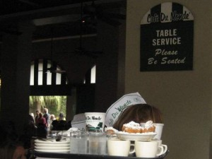 Tray of coffee and beignets at Cafe du Monde. (photo by Tui Snider)