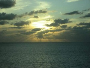 Transatlantic cruise sunset. (photo by Tui Snider)
