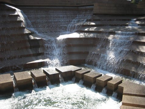 Beautiful Active Pool At The Fort Worth Water Gardens In Fort Worth, Texas ©Tui Snider