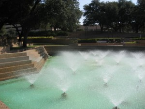 Aerating Pool at the Fort Worth Water Gardens in Fort Worth, Texas ©Tui Snider
