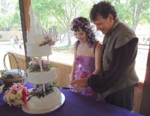 Scarborough Renaissance Festival wedding in Waxahachie, Texas