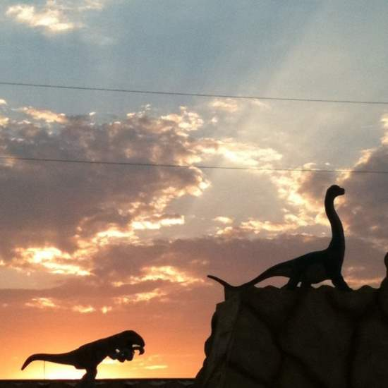 Dinosaur World at sunset in Glen Rose, TX ©Tui Snider