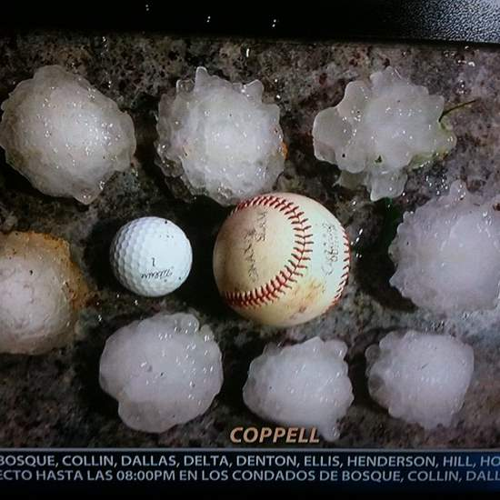 Hail in Coppell, Texas (photo via Instagr.am)