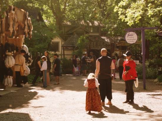 Strolling the streets at the Scarborough Renaissance Festival (photo by Tui Snider)