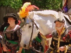 Even the horses dress up at the Scarborough Renaissance Festival (photo by Tui Snider)
