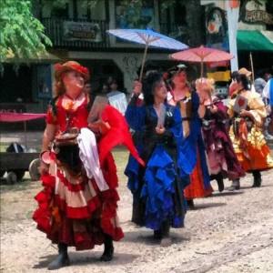 Colorful dresses at Scarborough Renaissance Festival (photo by Tui Snider)