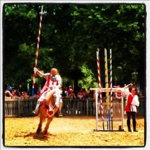 Surely, you joust - at the Scarborough Renaissance Festival (photo by Tui Snider)