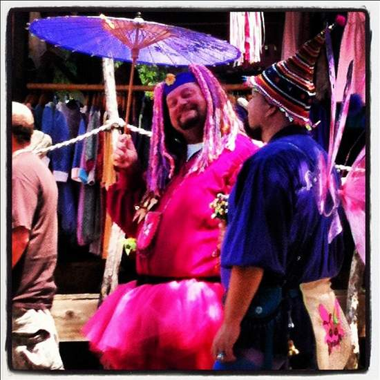 Men in pink at Scarborough Renaissance Festival (photo by Tui Snider)