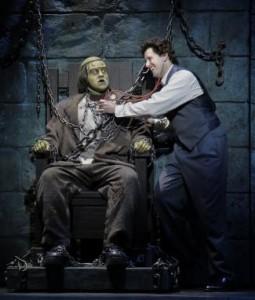 The Monster (Preston Truman Boyd) and Dr. Frankenstein (Christopher Ryan)