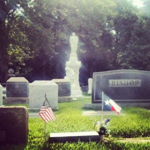 Flags at the Athens, TX cemetery. (photo by Tui Snider)