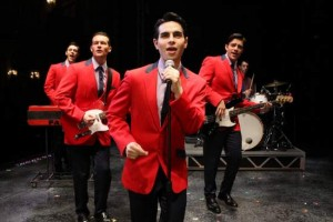 Jersey Boys - Jason Kappus, Colby Foytik, Brad Weinstock and Brandon Andrus (photo by Joan Marcus)