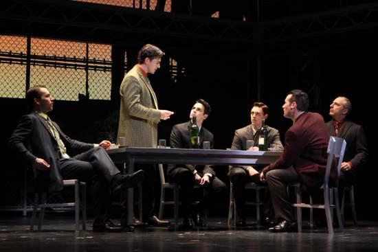 Jersey Boys - Wes Hart, Brandon Andrus, Brad Weinstock, Jason Kappus, Colby Foytik and Thomas Fiscella (photo by Joan Marcus)