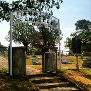 Aurora Cemetery gate (photo Tui Snider)