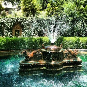 Bronze fountain at Chandor Gardens in Weatherford, Texas (photo by Tui Snider)