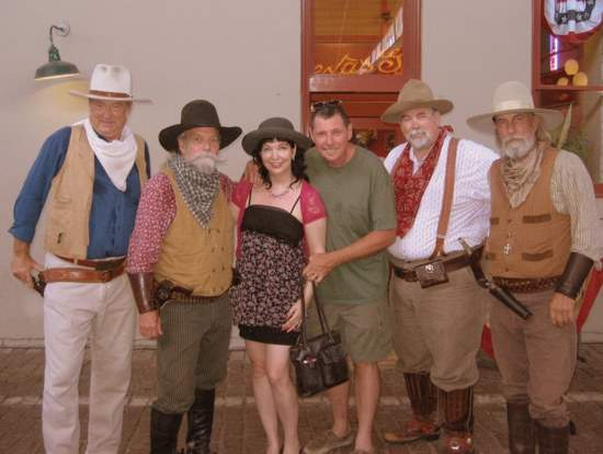 You can pose with cowboy gunfighters after the shootout! (photo by Tui Snider)